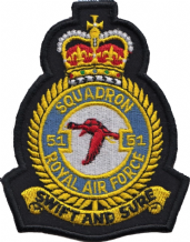 No. 51 Squadron Royal Air Force RAF Crest MOD Embroidered Patch